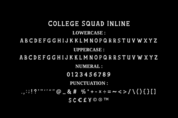 College Squad Font in Display Fonts