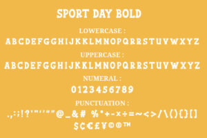 Sport Day - A Slab Serif Sports Font Typeface in Display Fonts