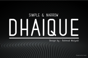 Dhaique in Sans Serif Fonts