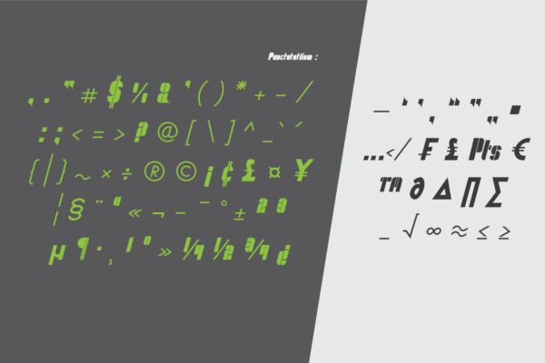 Qeuliner in Display Fonts