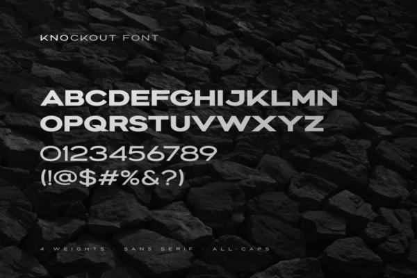 Knockout - Extended Bold Font in Other Fonts Fonts