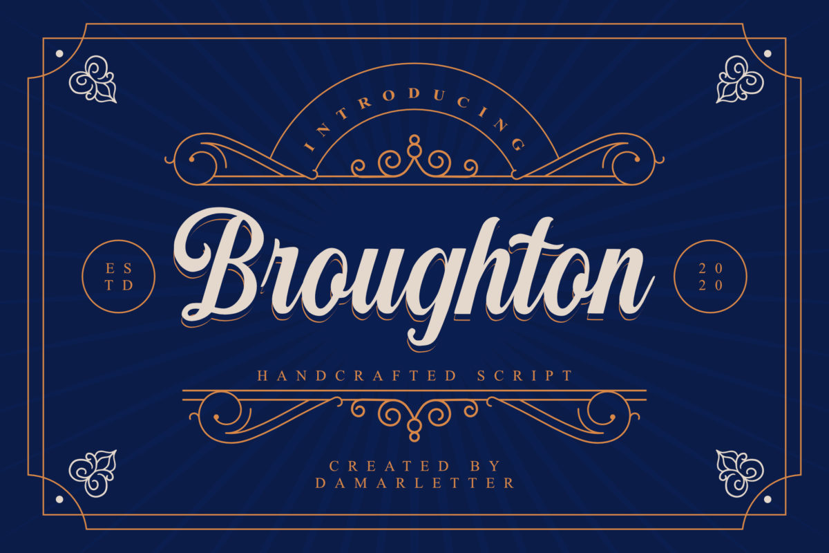Broughton in Brush Fonts