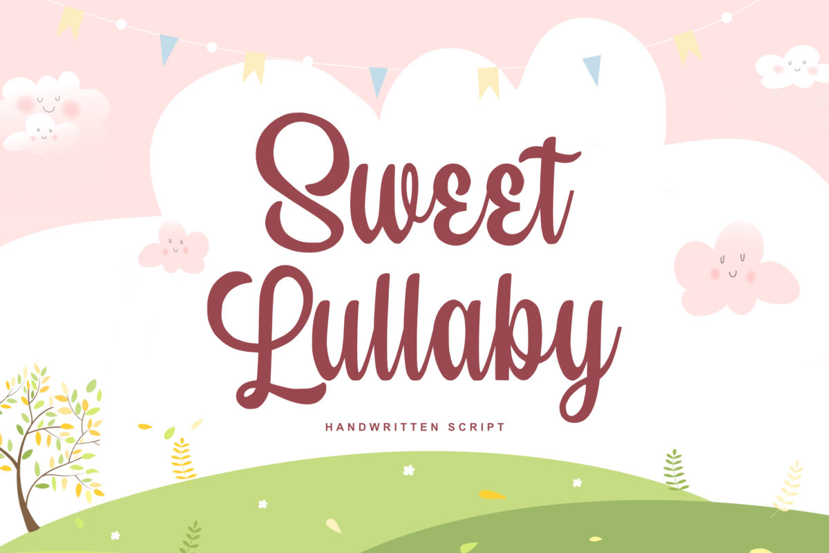 Sweet Lullaby in Brush Fonts