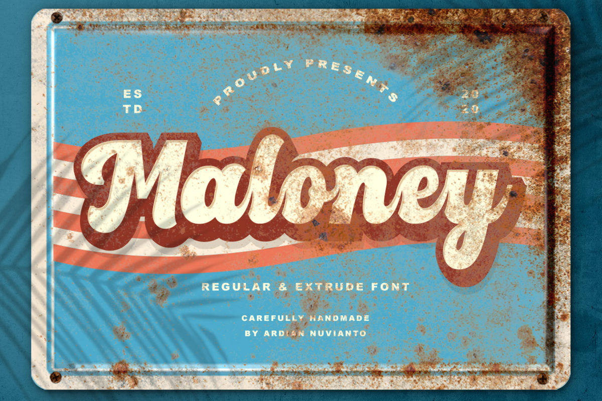 Maloney in Brush Fonts