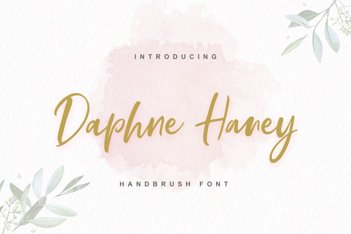 Daphne Haney in Brush Fonts