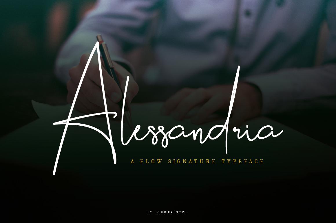 Alessandria Signature Font in Handwriting Fonts