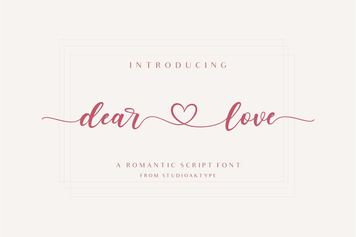 Dear Love - Romantic Script Font in Calligraphy Fonts