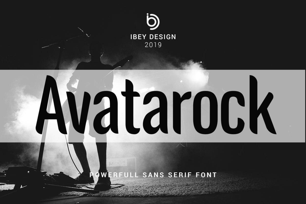 Avatarock - Modern Font in Display Fonts