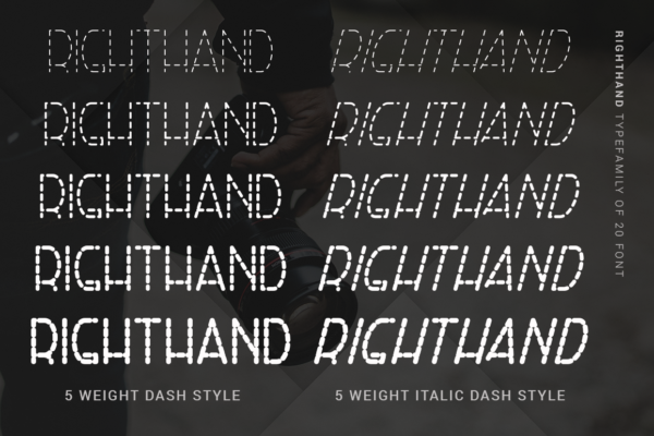 RightHand - 20 Monoline Fonts in Sans Serif Fonts