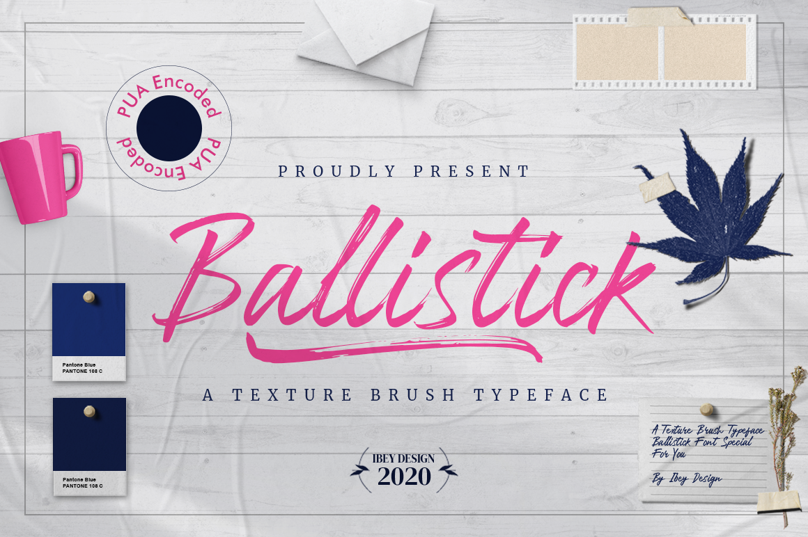Ballistick - Brush Font with Swash in Brush Fonts