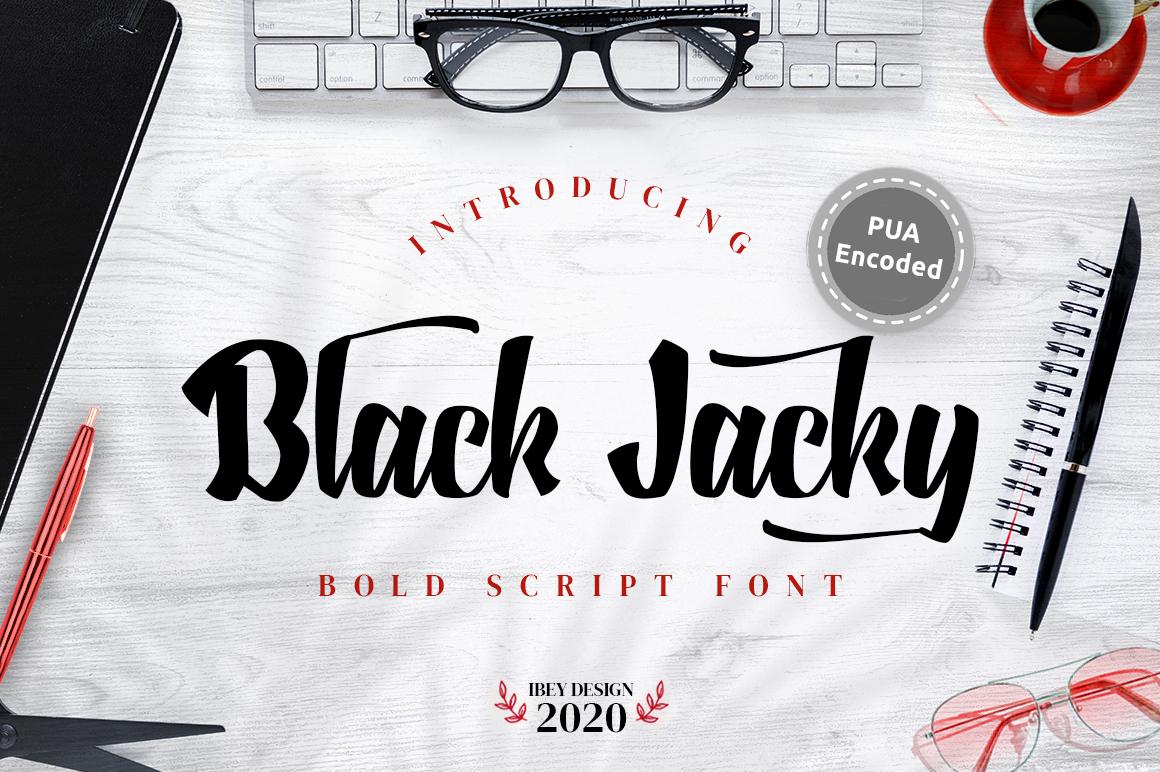 Black Jacky - Bold Script in Blackletter Fonts