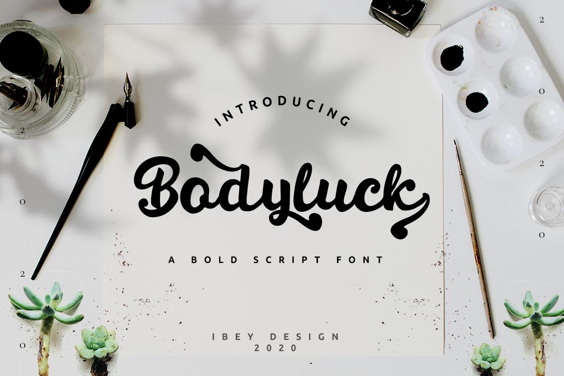 Bodyluck - Bold Script in Display Fonts