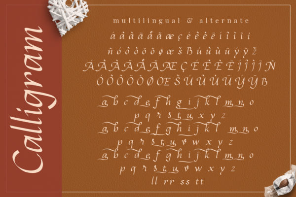Calligram - Stylish Calligraphy Font in Calligraphy Fonts