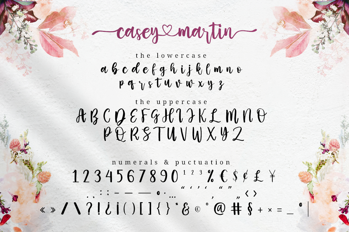 Casey Martin - Calligraphy Script in Brush Fonts