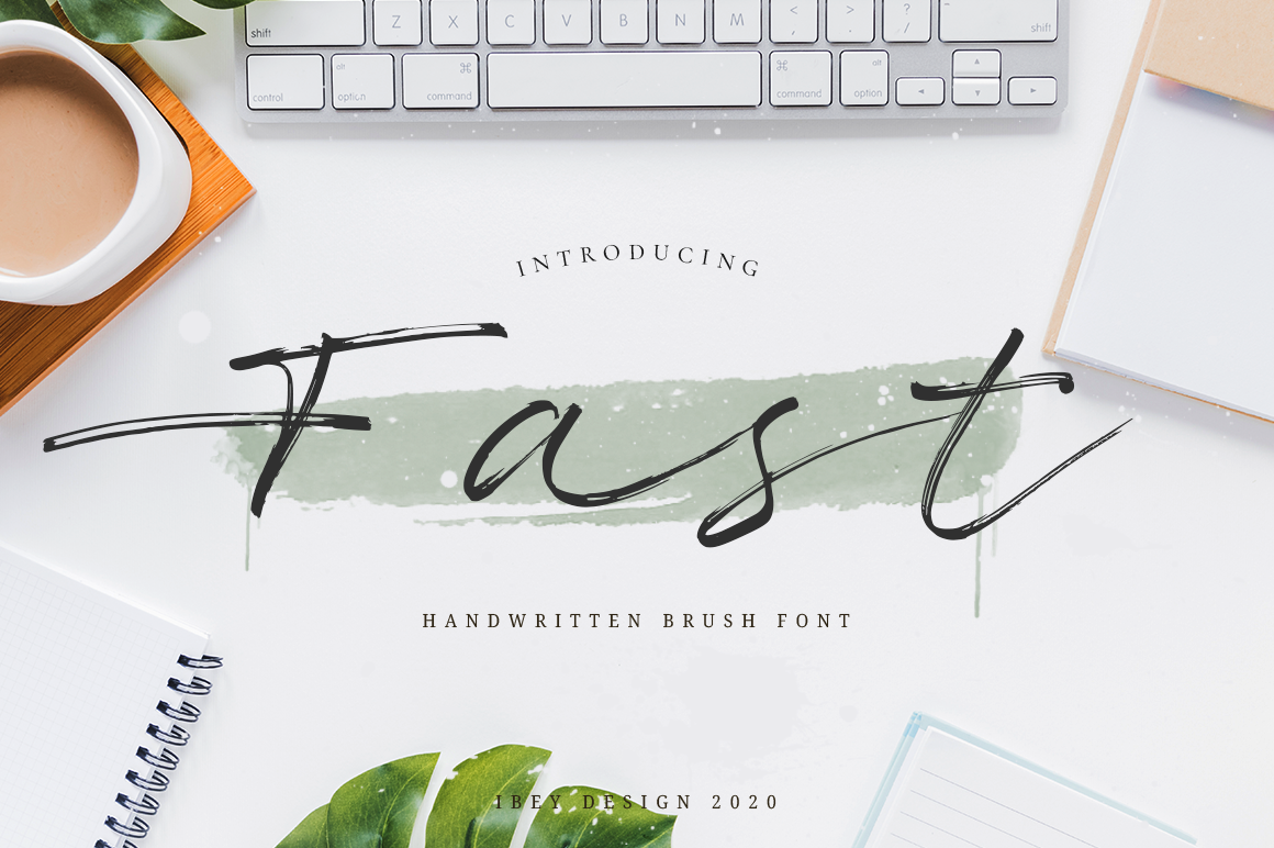Fast - Brush Font in Brush Fonts
