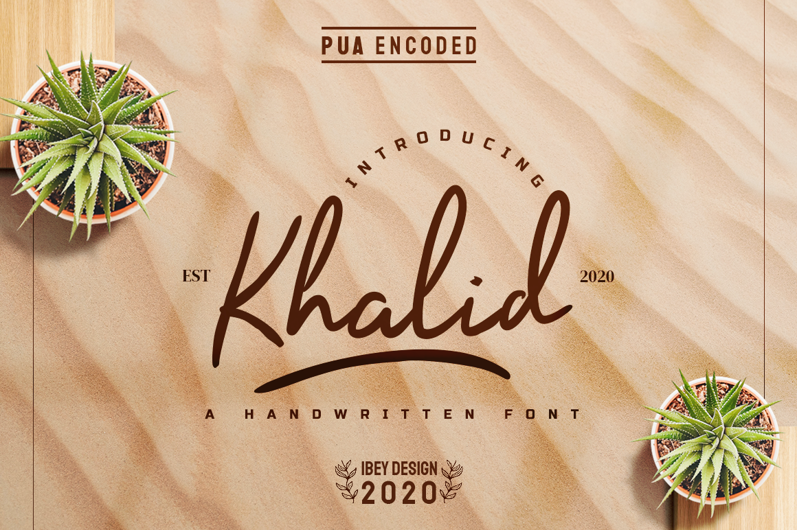 Khalid - Font with Swash in Handwriting Fonts