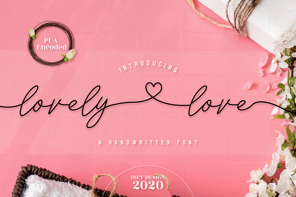 Lovely Love - Script Font in Calligraphy Fonts