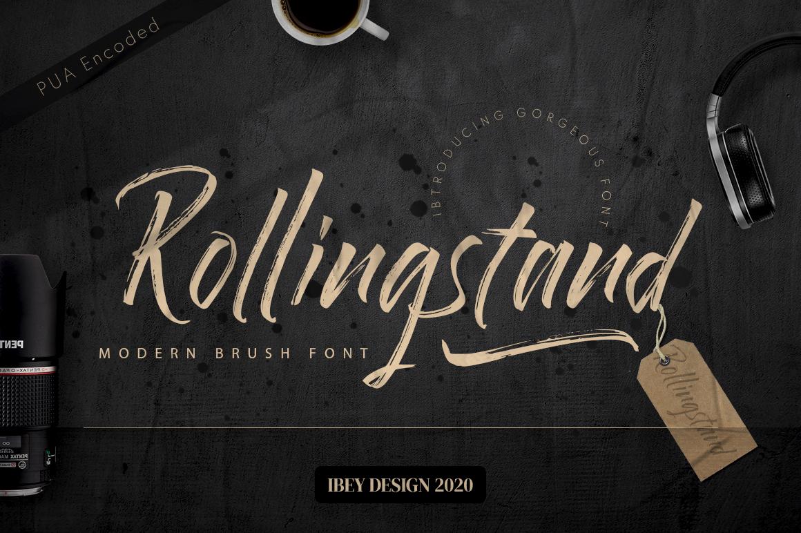 Rollingstand - Modern Brush Font in Brush Fonts