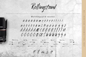 Rollingstand - Modern Brush Font in Handwriting Fonts