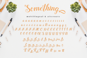 Something - Calligraphy Font in Calligraphy Fonts