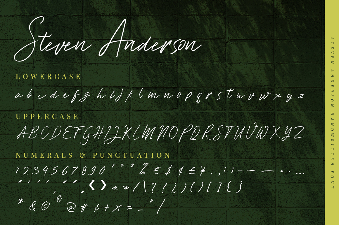 Steven Anderson - Authentic Handwriting in Handwriting Fonts