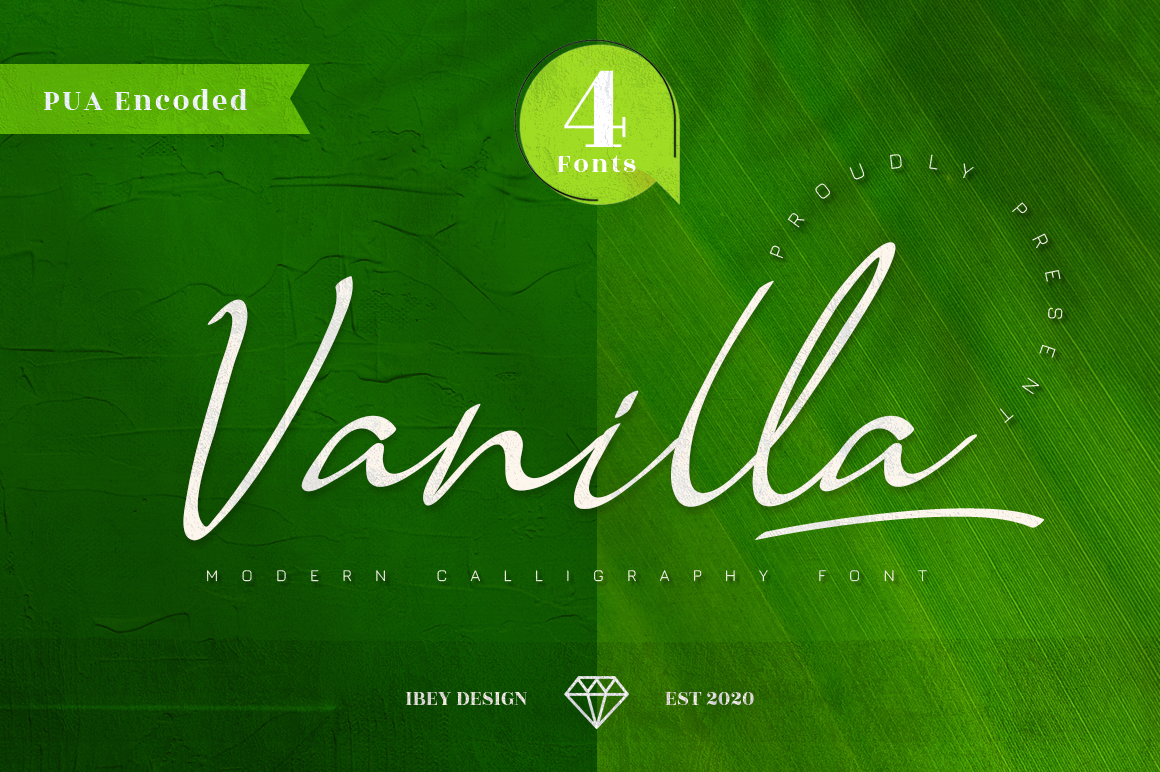 Vanilla - Modern Calligraphy in Calligraphy Fonts