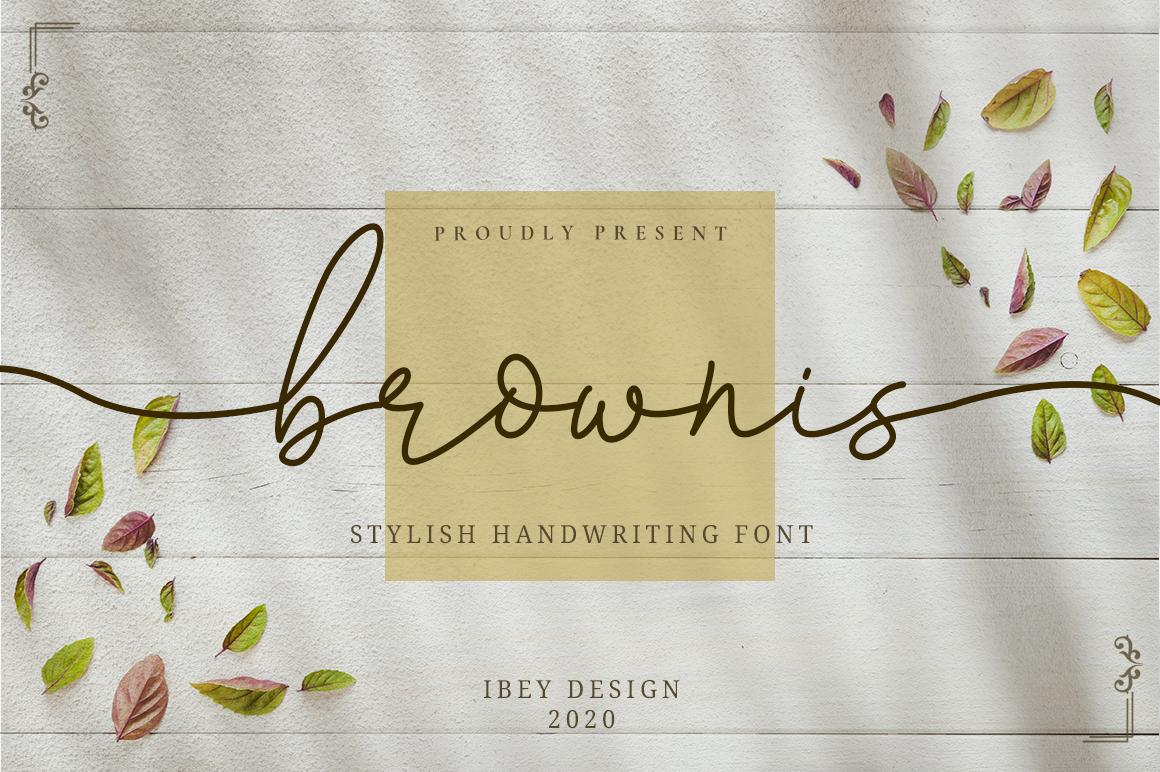 Brownis - Handwritten Script in Calligraphy Fonts