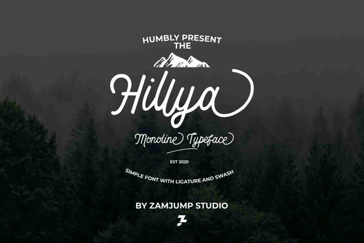 Hillya in Script Fonts