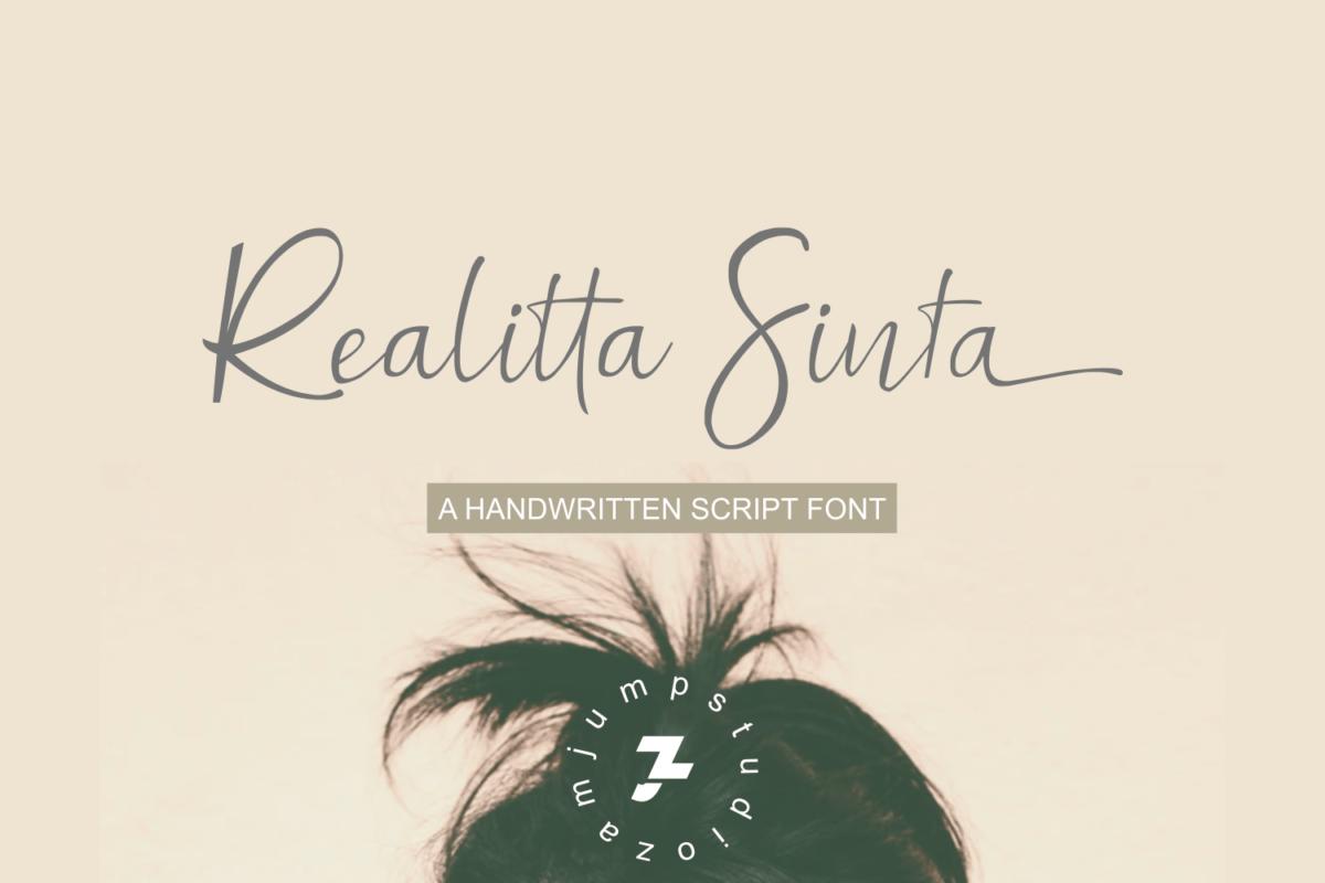 Realitta Sinta in Handwriting Fonts