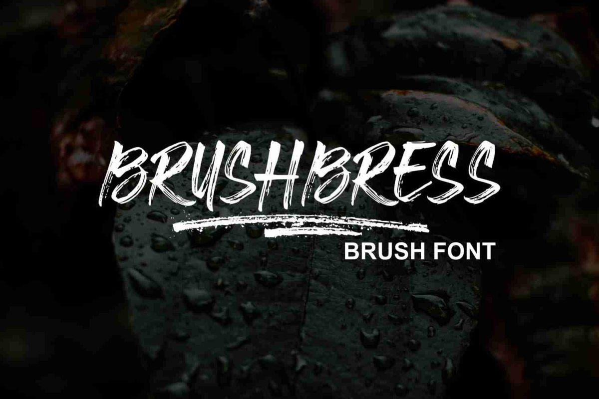 Brushbress in Brush Fonts