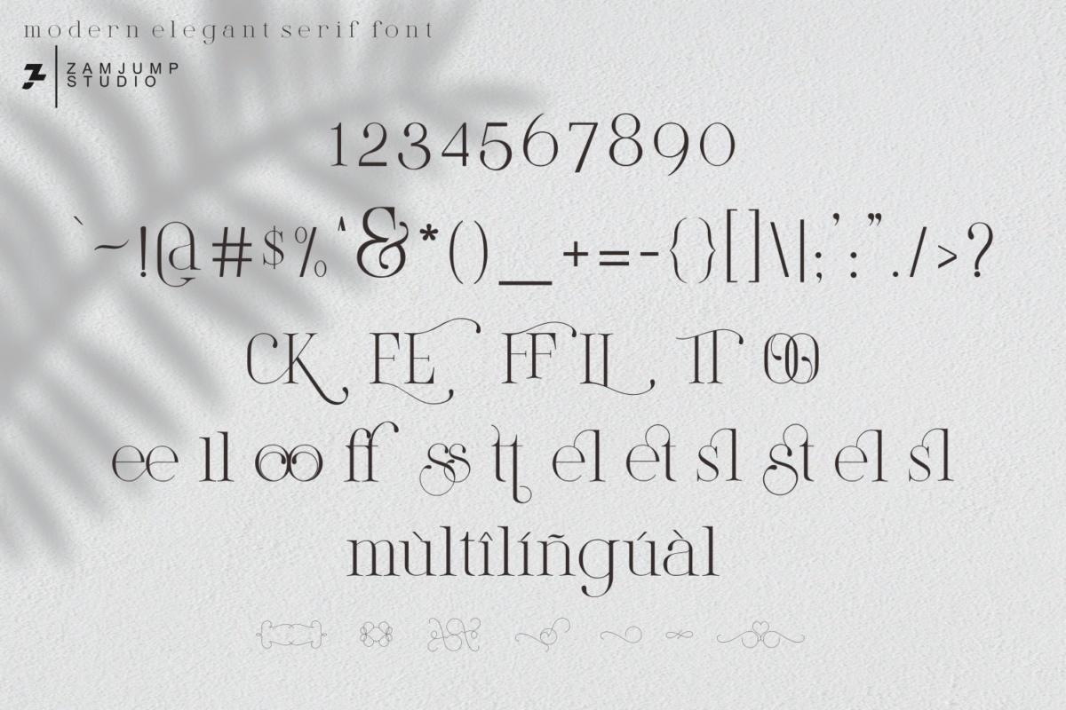 Lightly Sailler in Decorative Fonts