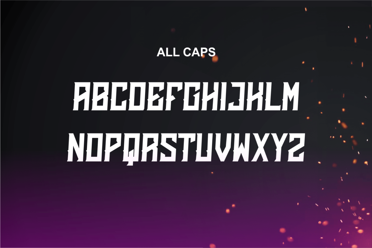 Emberclaws in Decorative Fonts