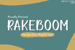 RAKEBOOM in Display Fonts