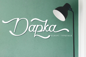 Dapka in Script Fonts