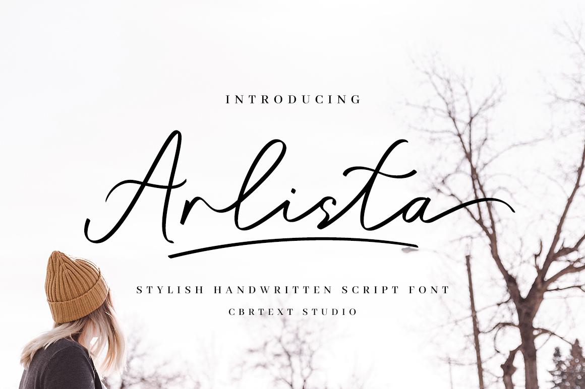 Arlista in Script Fonts