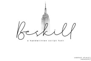 Beskill in Script Fonts