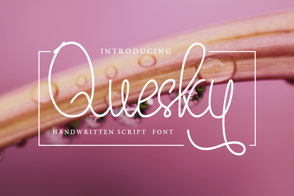 Quesky in Handwriting Fonts