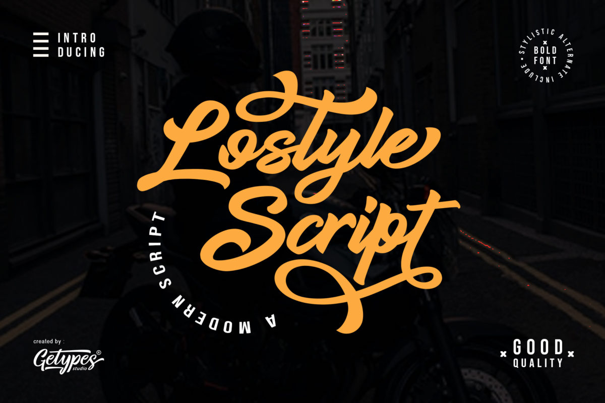 Lostyle Script - A bold Handwritten Font in Calligraphy Fonts