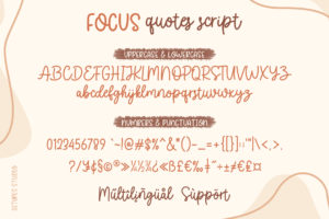 Focus Quotes Duo Font in Handwriting Fonts