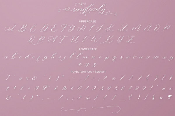 Ringlovely in Calligraphy Fonts
