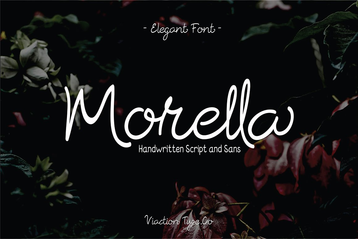 Morella Font Duo in Handwriting Fonts