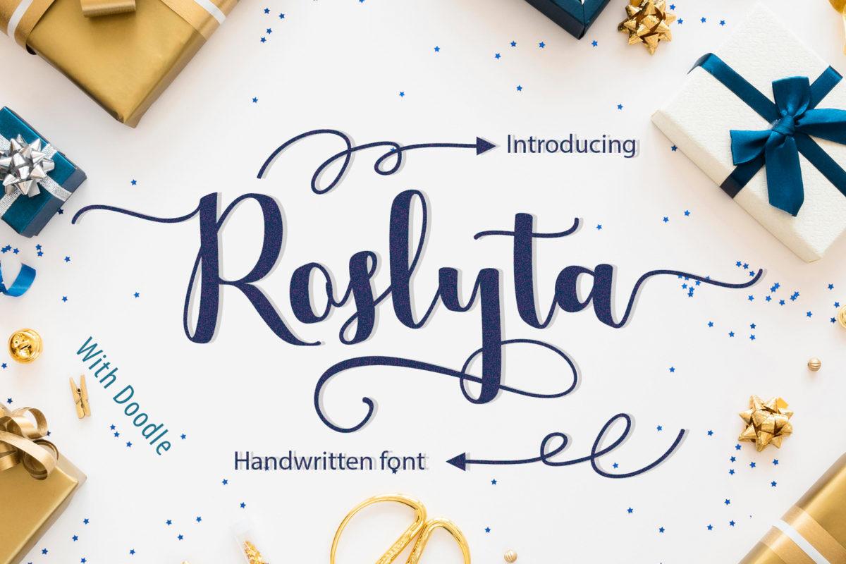 Roslyta script in Display Fonts