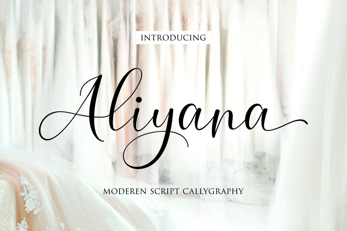 Aliyana script in Calligraphy Fonts