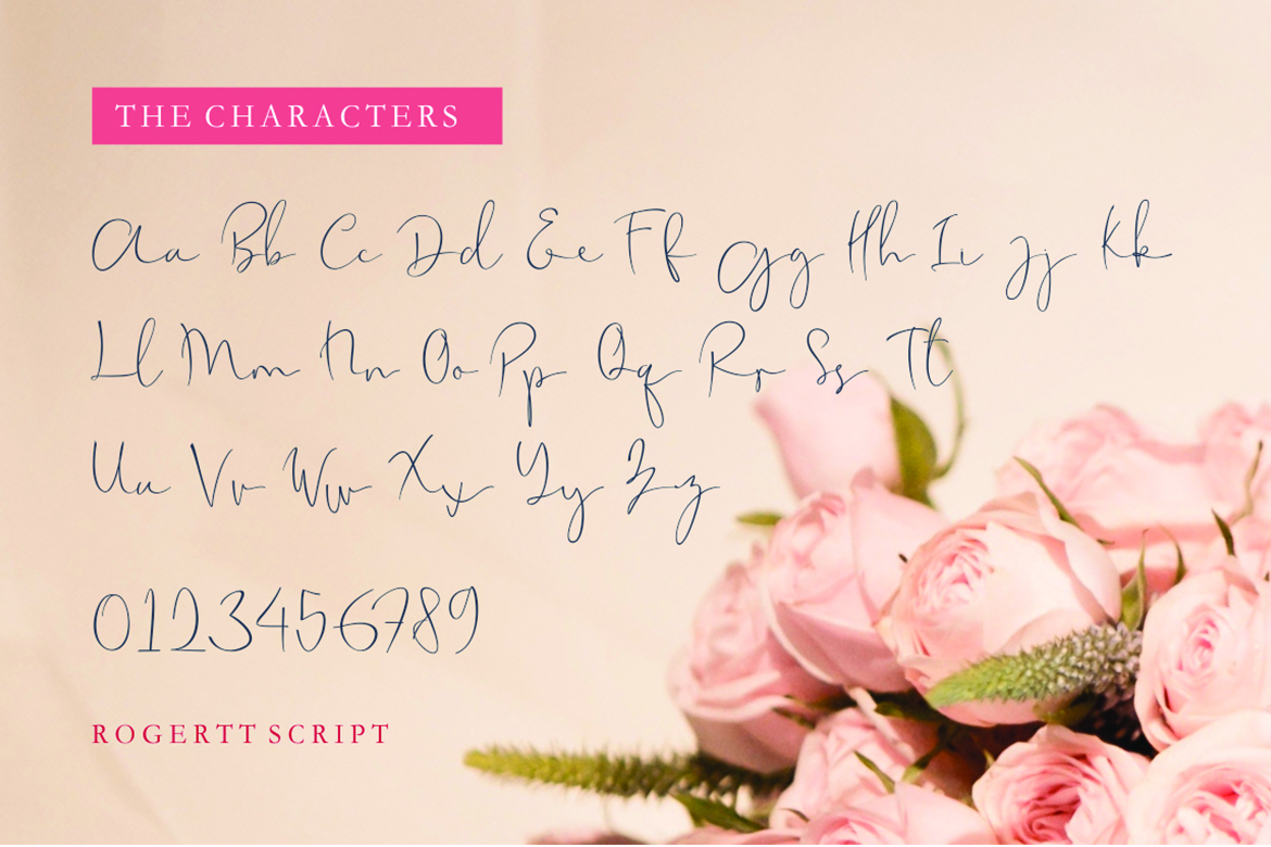 Rogertt in Calligraphy Fonts