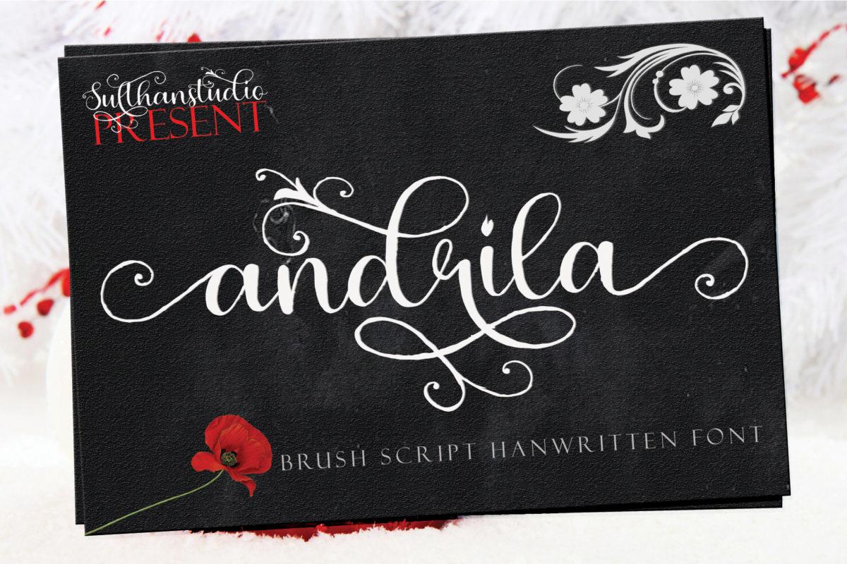 Andrila in Brush Fonts