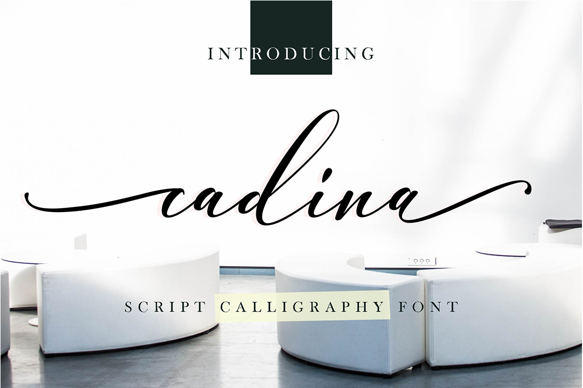 Cadina in Calligraphy Fonts
