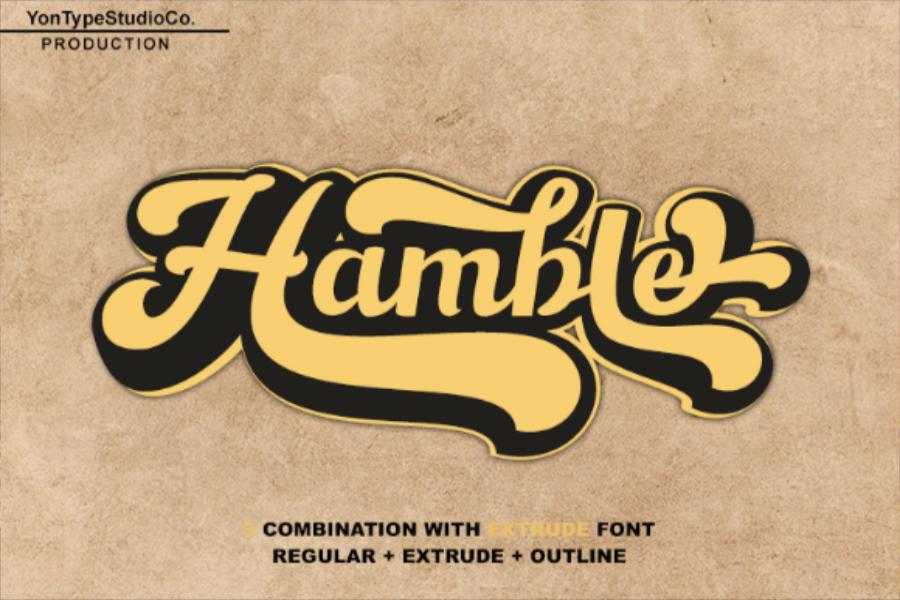 Hamble Font in Brush Fonts
