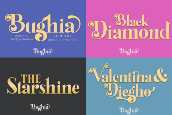 Bughia in Display Fonts