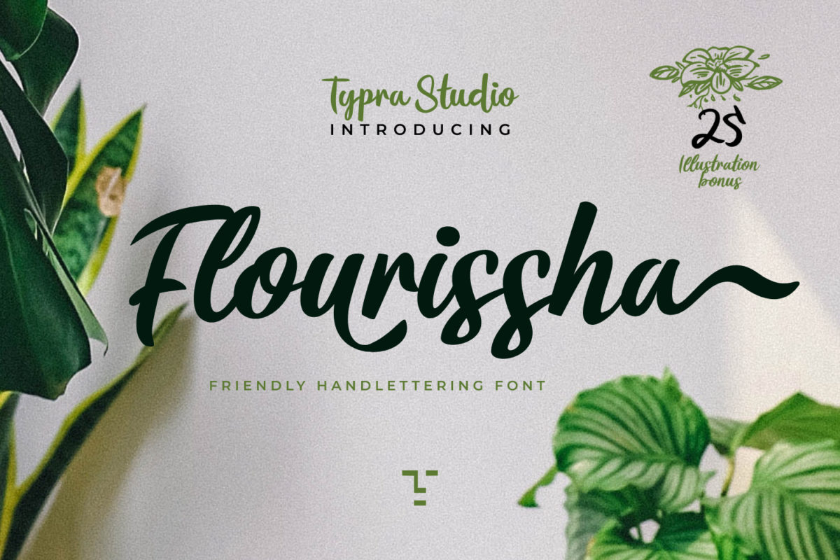 Flourissha Hand lettering in Calligraphy Fonts