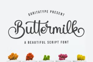 Buttermilk in Handwriting Fonts